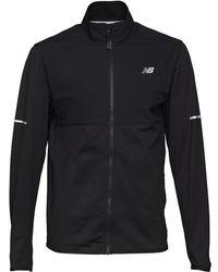 New Balance - Woven Nb Heat Thermal Running Jacket Black - Lyst