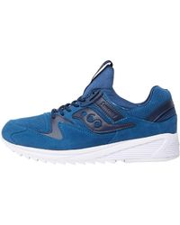 Saucony - Grid 8500 Suede Trainers Navy - Lyst