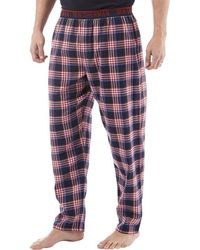 Ben Sherman - Blake Woven Lounge Trousers Red/navy/white Check - Lyst