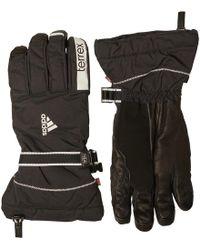 adidas - Terrex Free Ski Gloves Black/white/white - Lyst