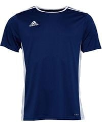 adidas - Entrada 18 Training Top Navy/white - Lyst