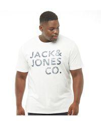 Jack & Jones - Originals Plus Size Inner Crew Neck T-shirt White - Lyst