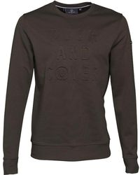 Duck and Cover - Linden Double Faced Crew Neck Sweatshirt Khaki - Lyst