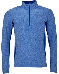 New Balance - Heathered Space Dye Reflective 1/2 Zip Running Top Team Royal - Lyst