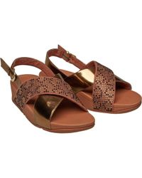 f40fde4800da Ipanema Diamond V Sandals In Beige Bronze Print 81929 Women s Flip ...