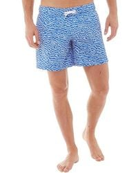 Bench - Aop Swim Shorts Blue - Lyst