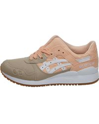 Asics - Gel Lyte Iii Trainers Bleached Apricot/white - Lyst