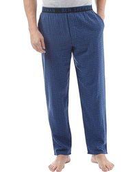 Ben Sherman - Woven Lounge Trousers Navy/cobalt Gingham - Lyst