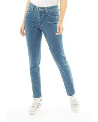 Levi's - 721 High Rise Skinny Fit Jeans Charged Up - Lyst