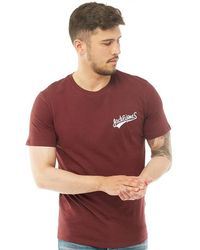841d6134 Jack & Jones Joe T-shirt Port Royale in Red for Men - Lyst