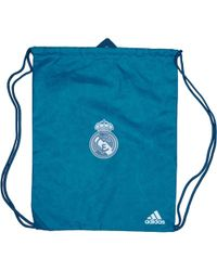 adidas - Rmcf Real Madrid Third Gym Bag Solid Grey vivid Teal - Lyst 22c03d23496cd