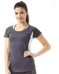 ELLE Sport - Mesh Panelled Performance Training Top Smoke Duo/smoke/fresh - Lyst