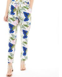 ONLY - Nova All Over Print Trousers Cloud Dancer/blooming Flower - Lyst
