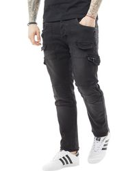 883 Police - Moriarty Tel 409 Slim Fit Jeans Black - Lyst