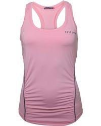 ELLE Sport - Ruched Performance Support Vest Soft Pink/petrol - Lyst