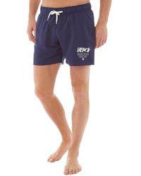 Bench - Corp Swim Shorts Navy - Lyst