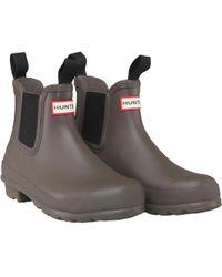 HUNTER - Original Chelsea Boots Swamp Green - Lyst