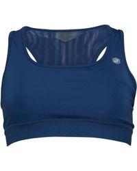 Asics - Sports Bra Top Dark Blue - Lyst