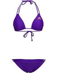 adidas - Solid Triangle Beach Bikini Energy Ink/sun Glow - Lyst