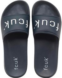 French Connection - Playa Pool Slide Sandals Marine - Lyst