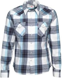 Levi's - Barstow Western Shirt Hemp Nightwatch Blue - Lyst