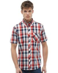 Ben Sherman - Checked Short Sleeve Shirt Red - Lyst