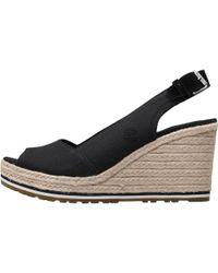 Timberland - Nice Coast Slingback Wedge Sandals Black - Lyst