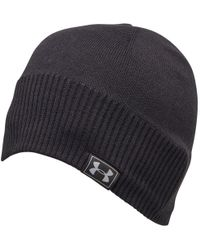 66fe0bc7d69 Under Armour Coldgear Infrared Elements Storm 2.0 Beanie in Gray for ...