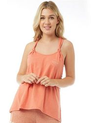 Animal - Katya Neon Knotted Vest Terracotta Red - Lyst