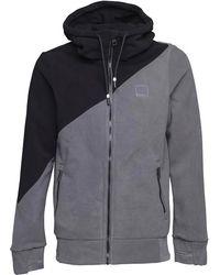 Bench   Core Colourblock Fleece Grey   Lyst