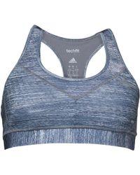 a53c688b42101 adidas - Techfit Climalite Macro Heather Moulded Cup Sports Bra Grey print matte  Silver
