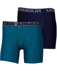 Under Armour - Hg Heatgear Original Series Boxerjock Two Pack Boxers Navy - Lyst