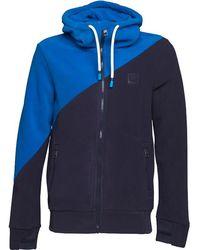 Bench - Core Colourblock Fleece Blue - Lyst