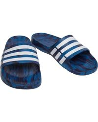 adidas - Duramo Slides Core Blue/footwear White/noble Ink - Lyst