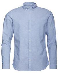 Jack & Jones - Premium Summer Long Sleeve Button Down Shirt Infinity - Lyst