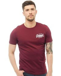 Jack & Jones - Howdy T-shirt Cordovan - Lyst