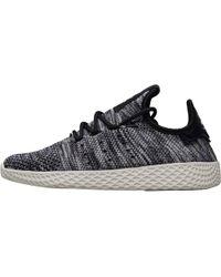 c9dc2e3f8 adidas Originals - X Pharrell Williams Tennis Hu Primeknit Oreo Trainers  Core White core Black