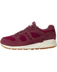 Saucony - Shadow 5000 Ht Weave Pack Trainers Maroon - Lyst