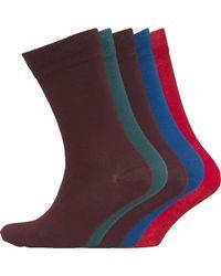 Jack & Jones - Edward Five Pack Socks Alpine Green - Lyst