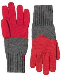 HUNTER - Original Moustache Gloves Slate/bright Coral - Lyst