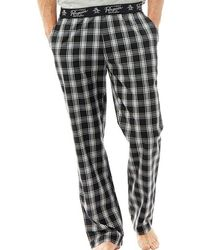 Original Penguin - Woven Lounge Trousers Black Check - Lyst