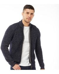 3090c52be035 Ted Baker - Akela Long Sleeve Funnel Neck Cardigan Navy - Lyst