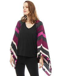 Ted Baker - Sarisa Stencilled Stripe Cape Scarf Deep Pink - Lyst