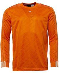 adidas Originals - X Alexander Wang Long Sleeve Soccer Jersey Super Orange - Lyst