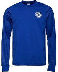 adidas - Cfc Chelsea Climawarm Long Sleeve Training Top Chelsea Blue - Lyst