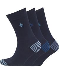 Original Penguin - Three Pack Socks Light Marine - Lyst