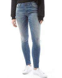 DIESEL - Skinzee 0679w Super Skinny Fit Jeans Medium Blue - Lyst