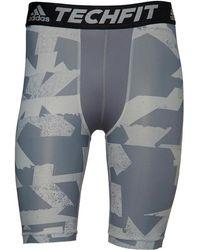 adidas - Techfit Chill Print Tight Shorts Black/grey - Lyst