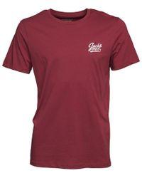 Jack & Jones - Anything Chest T-shirt Cordovan - Lyst