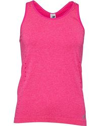 New Balance - Seamless Running Top Pink Glow Heather - Lyst